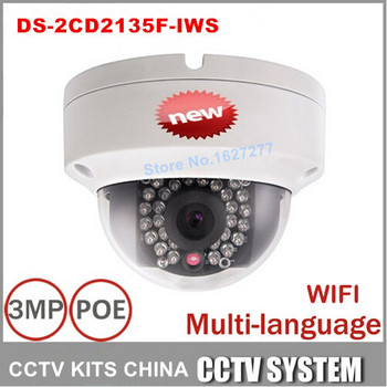 Hikvision WiFi IP POE Kamera DS-2CD2135F-IWS DS-2CD2132F-IWS DS-2CD3132F-IWS Kart Yuvası ile 3MP & Ses DS-2CD2135F-IWS değiştirin