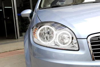 Fiat Linea için RGB LED far halo angel eyes kiti araba şekillendirici aksesuarları 2007 2008 2009 2010 2011 2012 2013
